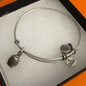 Alex and Ani Cupcake charm bracelet